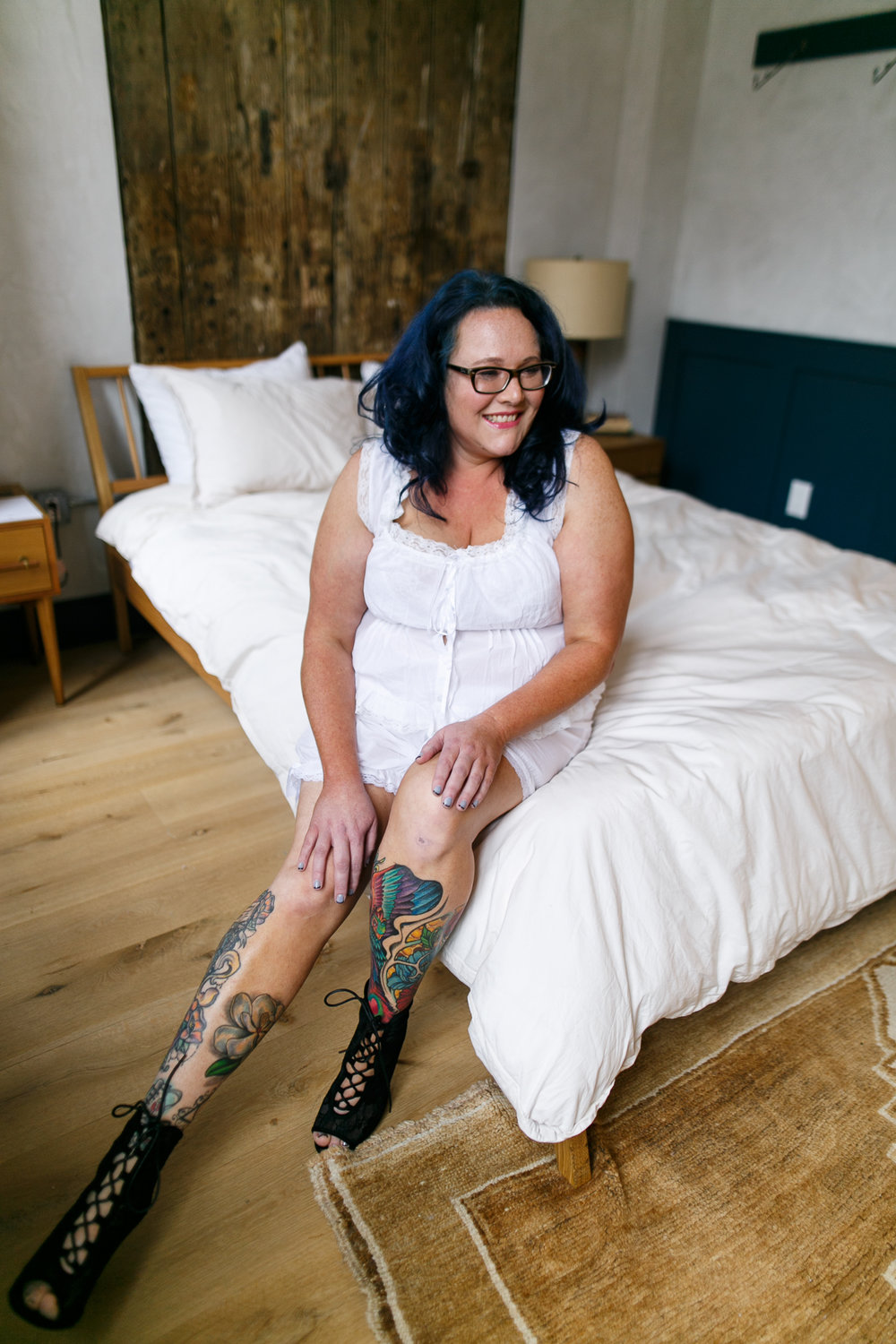 Philly Plus Size Boudoir Session