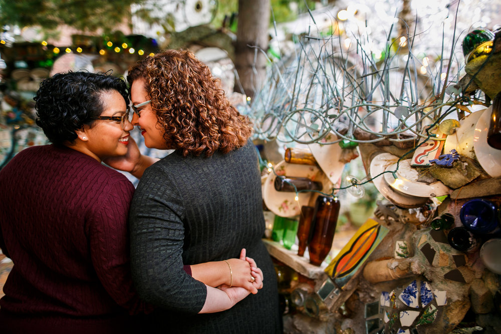 Philadelphia Magic Gardens Engagement Session LGBTQ