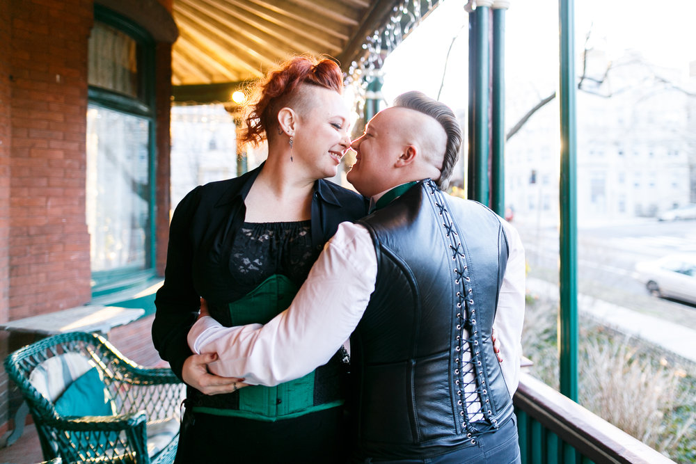 queer offbeat wedding photos Philly
