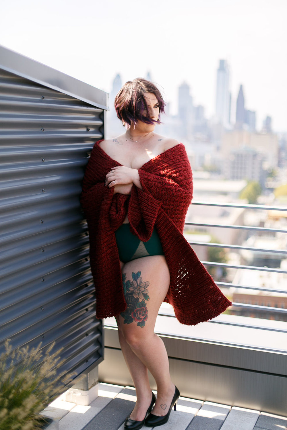 Philly Outdoor Rooftop Boudoir Session by Swiger Photography 40.jpg