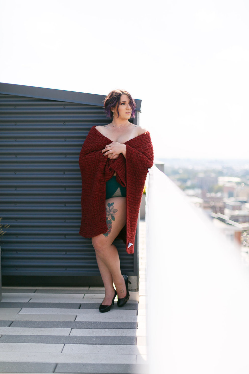 Philly Outdoor Rooftop Boudoir Session by Swiger Photography 44.jpg