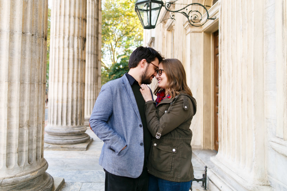 Old City Philadelphia Engagement Session with Ala and Roy