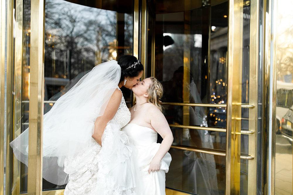 Old City Philly Renaissance Hotel Lesbian Winter Wedding74.jpg
