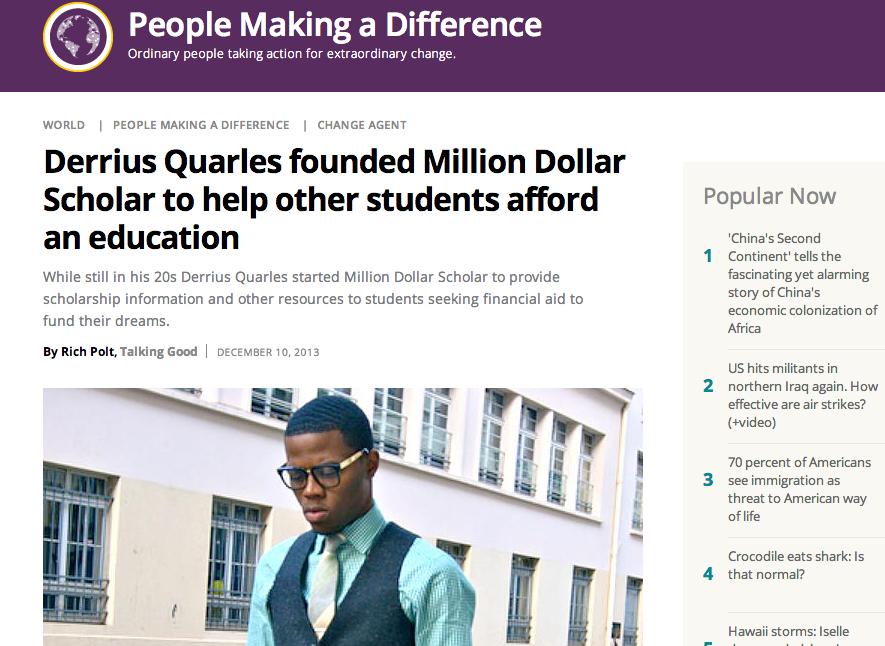 Derrius Quarles Christian Science Monitor