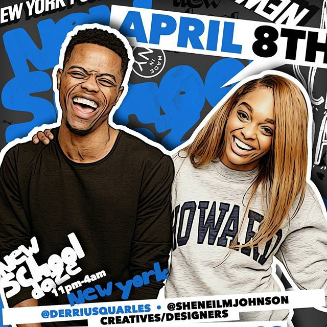It's going down April 8th 11pm at the 40/40 Club. My New York/Brooklyn people come party with ya boy and the Howard fam who had me laughing hard @sheneilmjohnson as our creative work is featured by @newschooldaze. Certainly will be #lit #40/40Club #marchmadness #howard #morehouse #celebration #hbcu #turnup #blackcreatives #blackculture #winningatlife