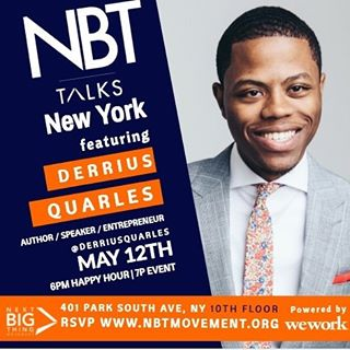If you are in NYC, tomorrow evening I will be speaking on m at WeWork Park South. You know its about about to be lit because its the night before @uofpenn graduation and its a panel full of #melanin Much love to  @nbtmovement for the invite and @WeWork for powering the event.  6:00 Networking | 7:00 Event  Direct rsvp link is nbttalksny.splashthat.com  #newyork #entrepreneur #innovation #blackcreatives #wework #thingstodo #friday #business #speaker #Penn #BREAUX #derriusquarles
