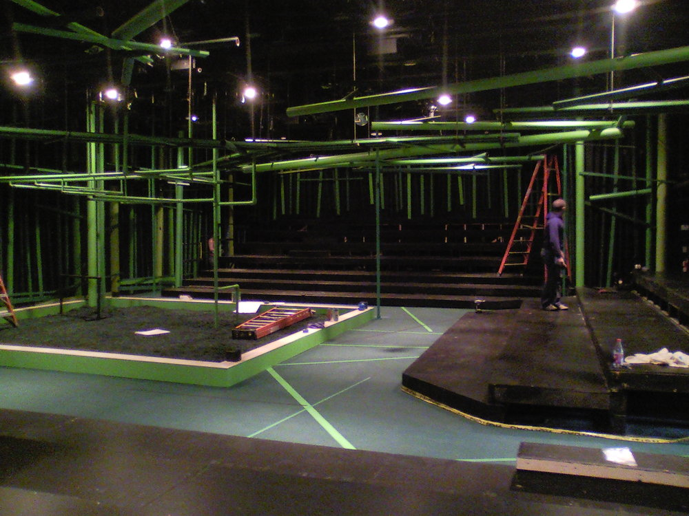 View of Robin Hood set under construction.