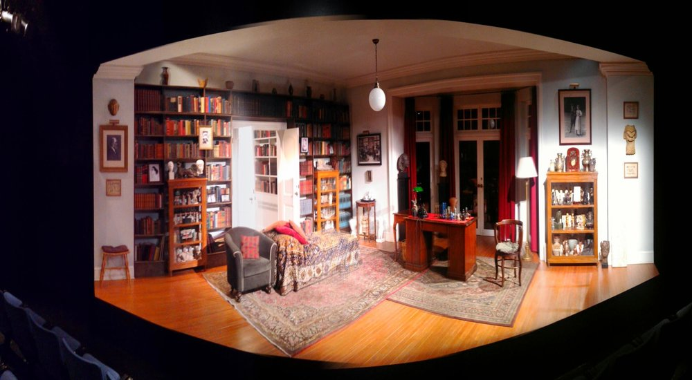 Panoramic view of  Freud's Last Session  set.