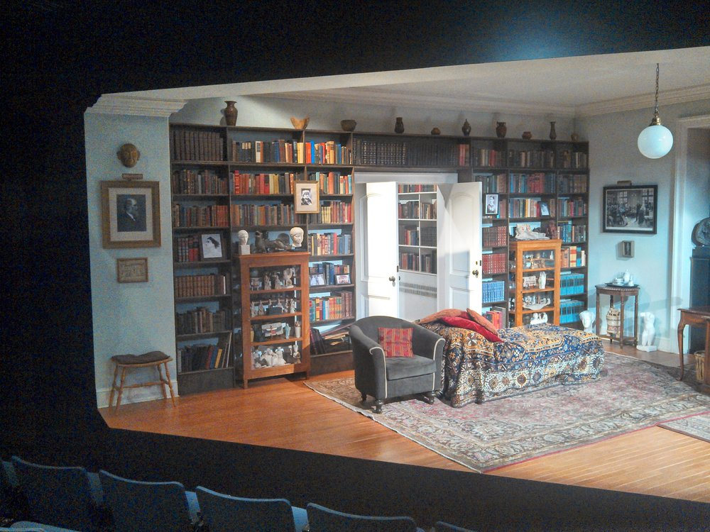 House Right view of  Freud's Last Session  set.