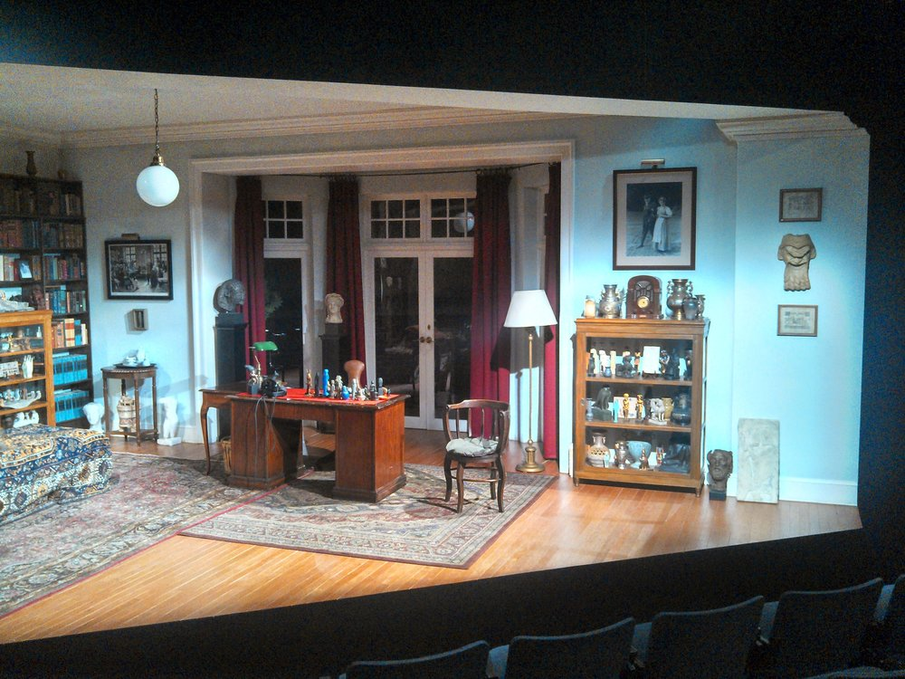 House Left view of  Freud's Last Session  set.