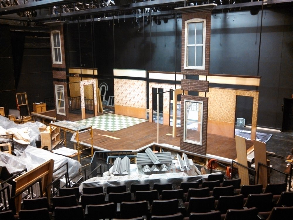 House Right view of  A Raisin in the Sun  set under construction.