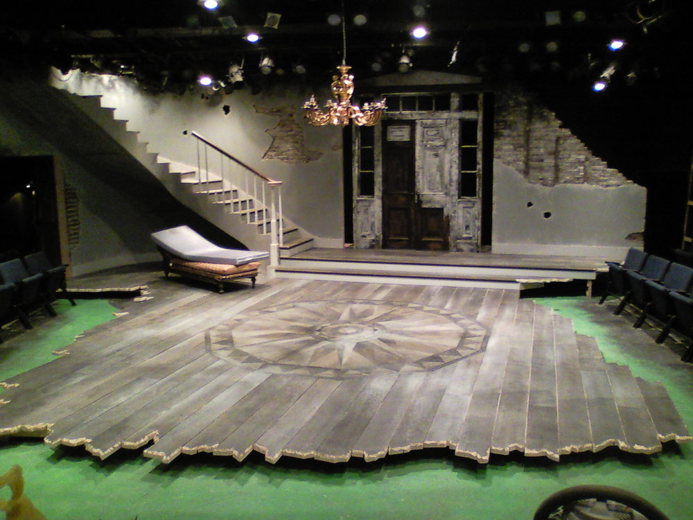 The Whipping Man  set built and painted, just waiting to be dressed.