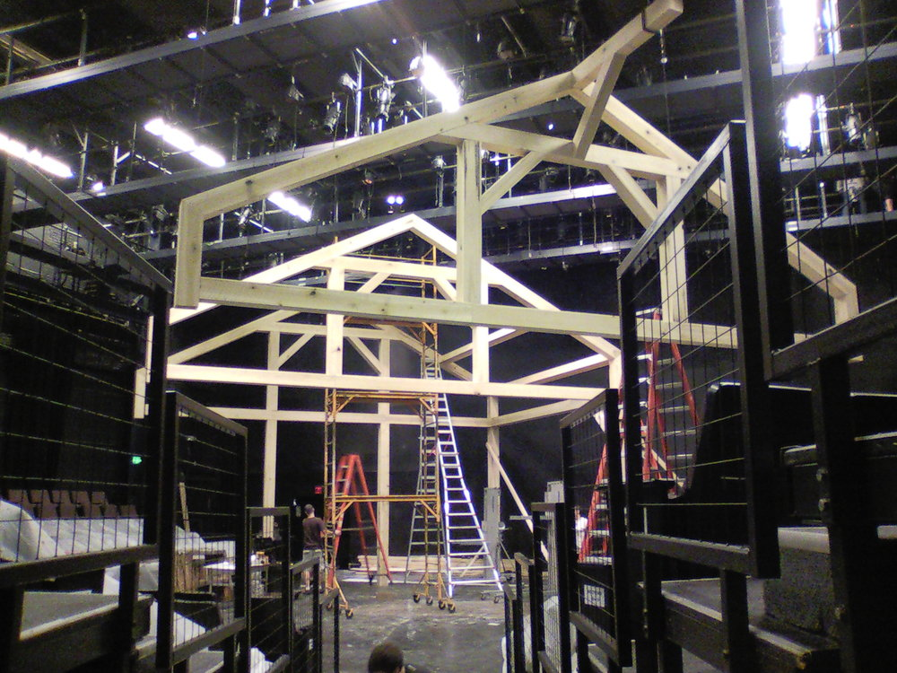 The  Charlotte's Web  set under construction.
