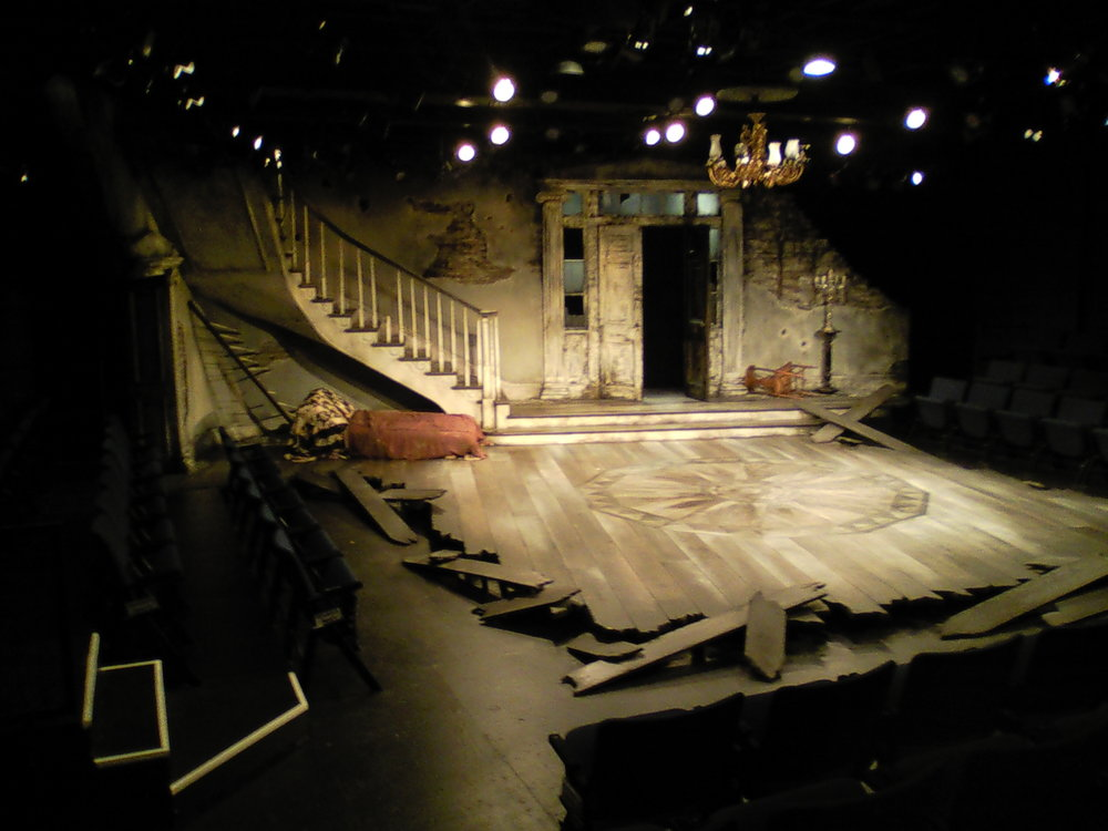The finished set for  The Whipping Man