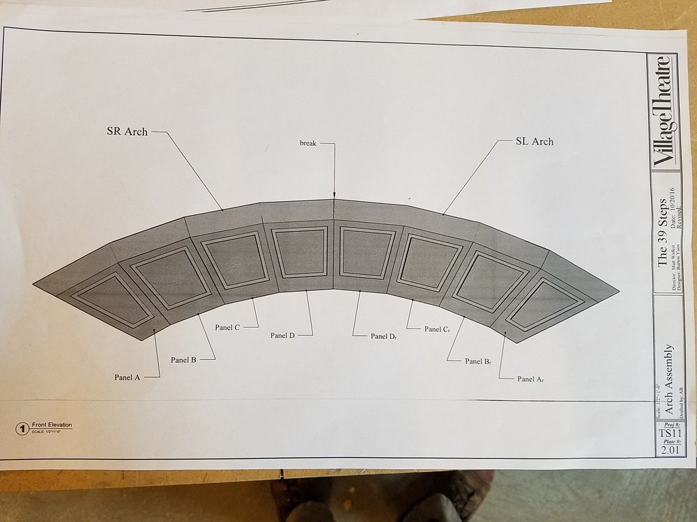 Front view of arch drawing.