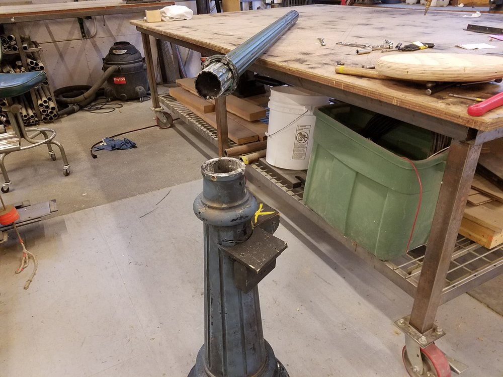 The lamppost before modifications.