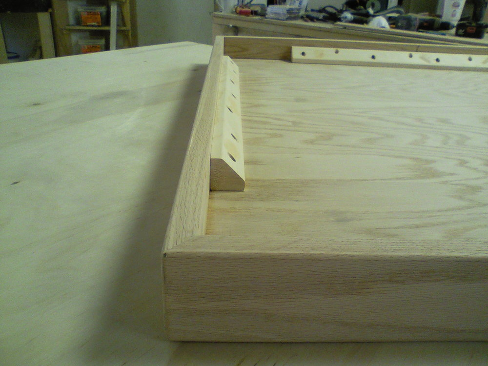 Build detail of rolling coffee table.