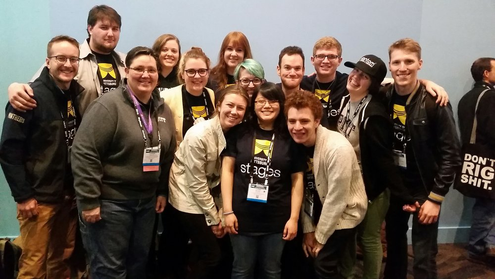 Pitt students, staff, faculty, and alumni at USITT 2015 Cincinnati.