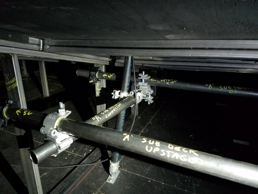 I-Beam subdeck connection detail