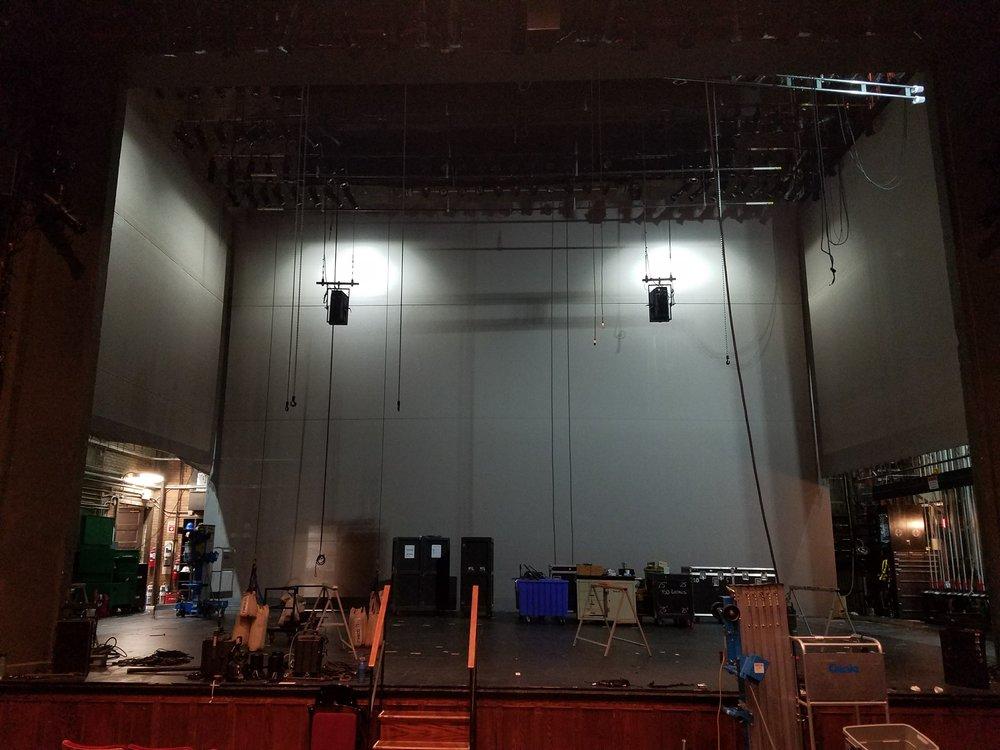 Wall Surround at installation