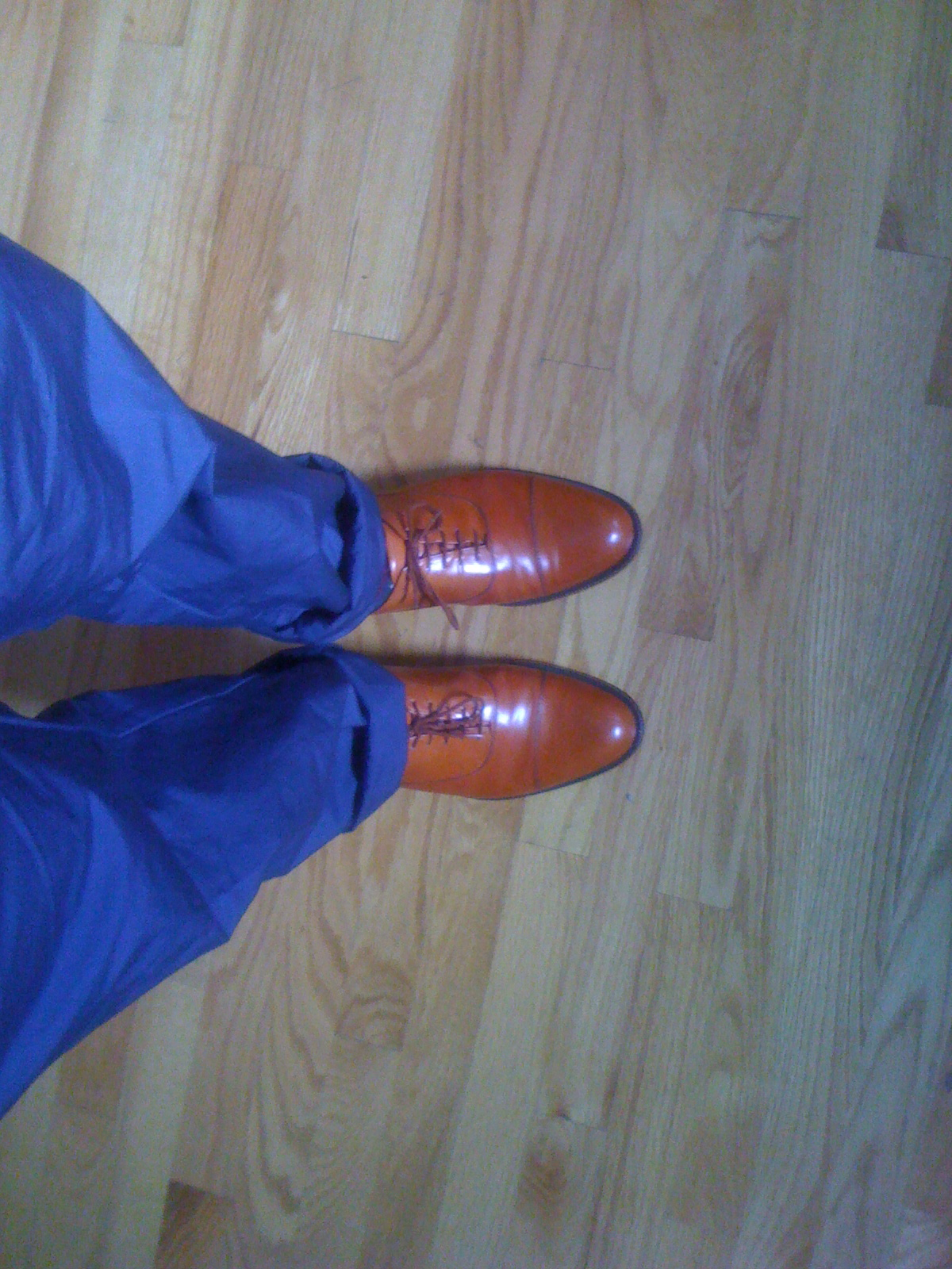 Vintage Bally Scribe Cap Toes in even more vintage Horween Calfskin.