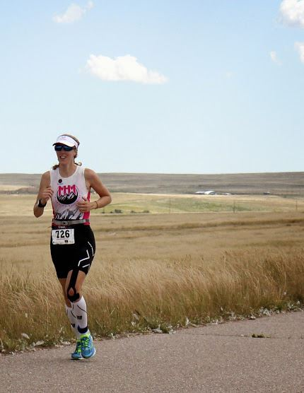 Running at Harvest Moon Triathlon 2014