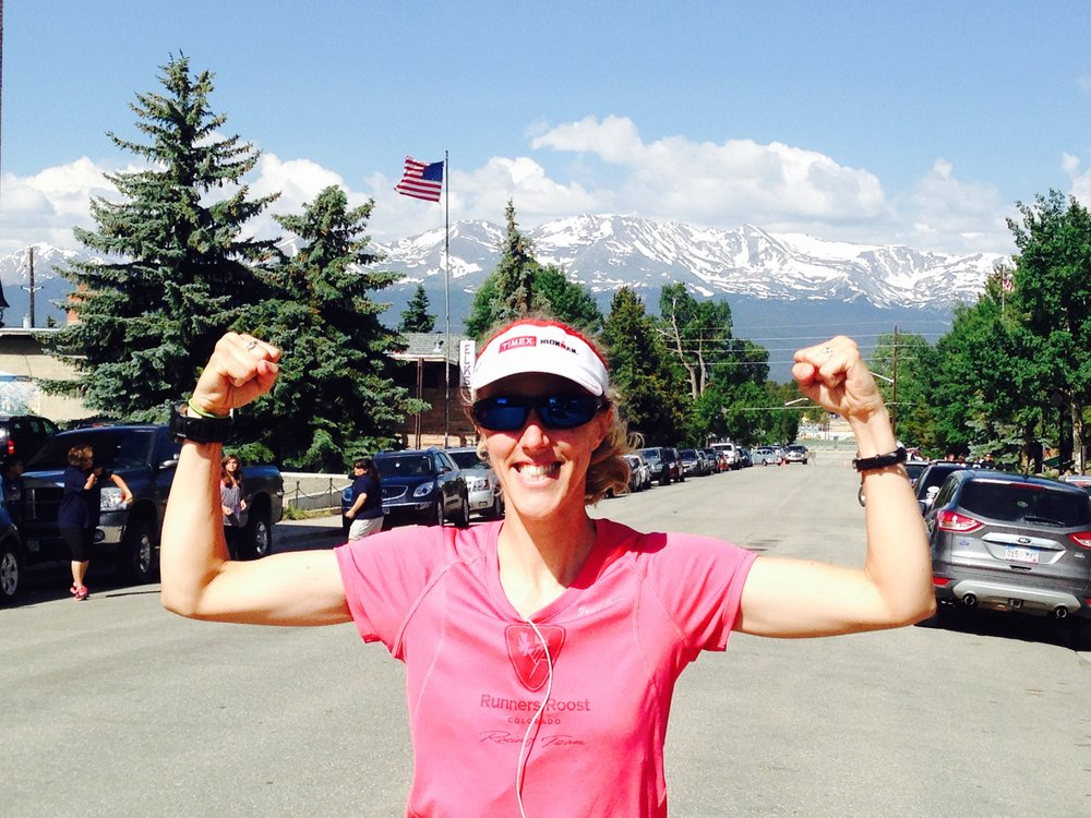 3rd woman overall at the Leadville, Colorado 5k