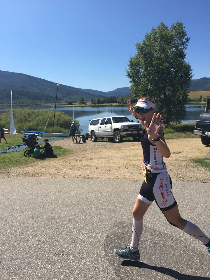 Steamboat Springs, Colorado Triathlon finish