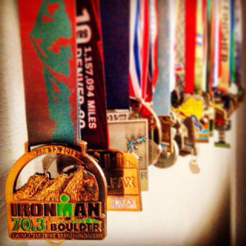 Run and Triathlon medals