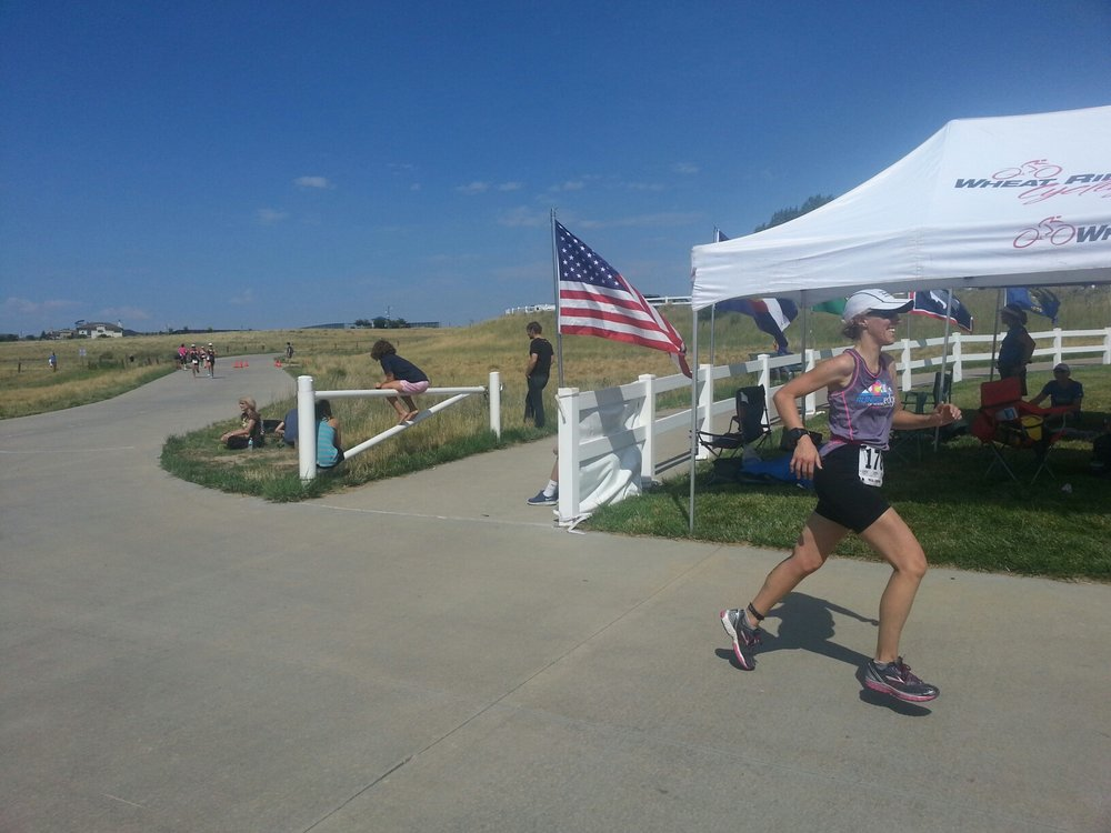 Finishing Rattlesnake Olympic Triathlon