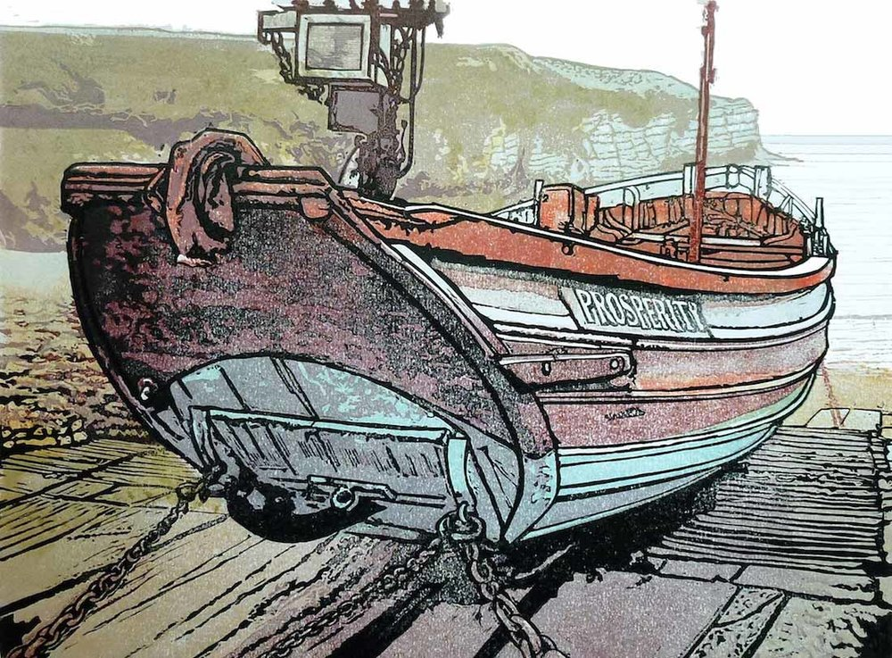 """Prosperity"" Coble at Flamborough Head"