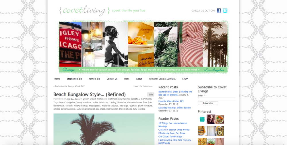 Covet Living Lifestyle Blog