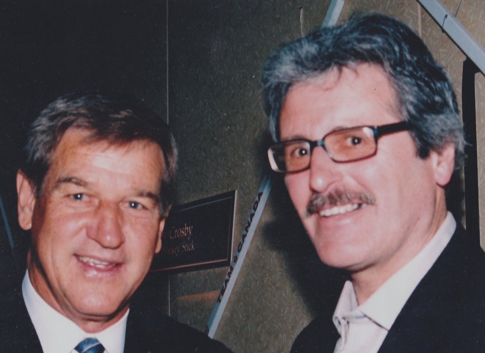 Al with his all-time favourite Bobby Orr