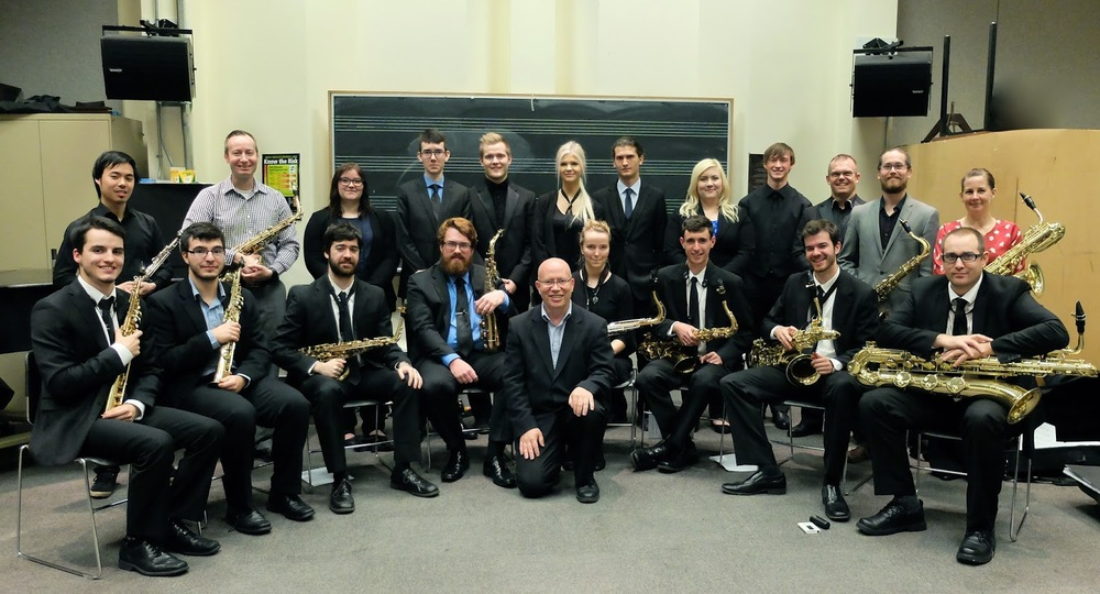 Proteus with the University of Victoria Saxophone Studio, Wendel Clanton, professor