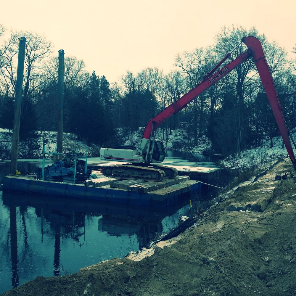 Slikkers Pond Dredging, Holland, MI