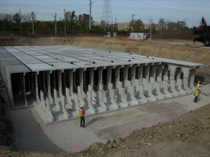 Storm water vault construction