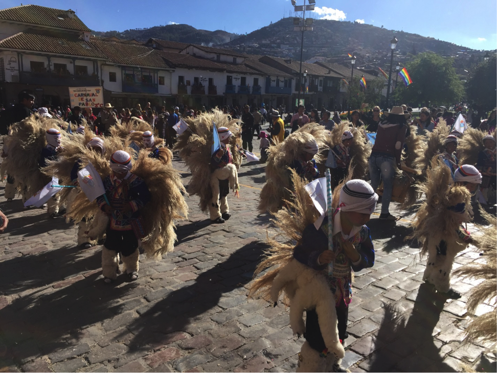 Jennifer photographed local children celebrating the Winter Solstice in Cusco, Peru.