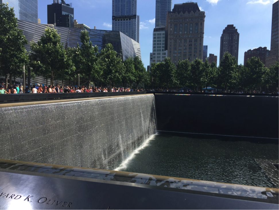 Fernando also stopped in New York and went to visit the National 9/11 Memorial.