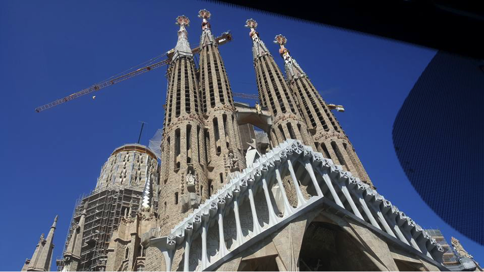 Rusty Utomo captured the Basilica de la Sagrada Familia on her trip to Barcelona, Spain.