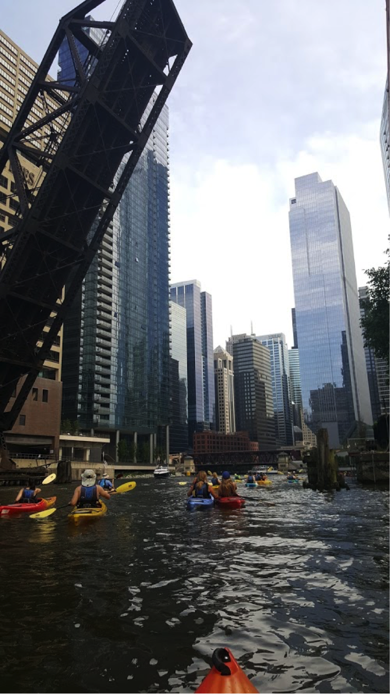 "John Zimmermann and his family went on a little ""staycation"" in Chicago over the Fourth of July and went on an architecture kayak tour down the Chicago River."