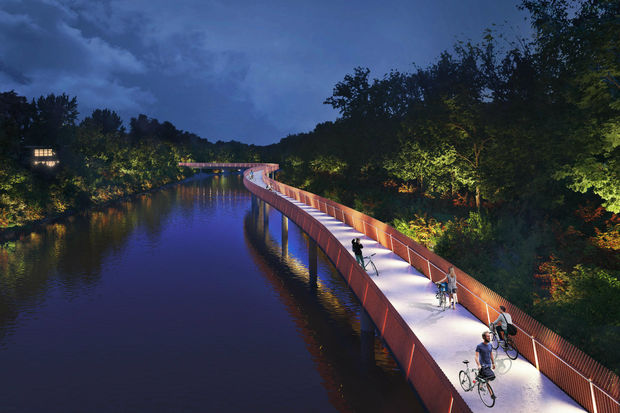 Figure 3: Artist's rendering of the completed Riverview Bridge. Image provided by CDOT.