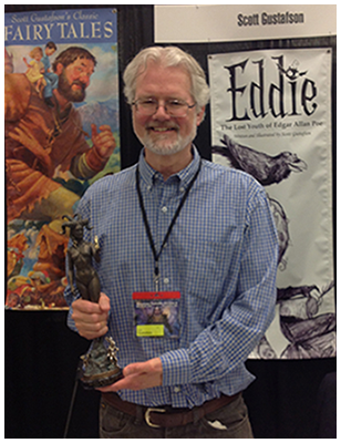 Scott and the Grand Master award from Spectrum Fantastic Art Live, 2015. Photo credit: Tara Larsen Chang.