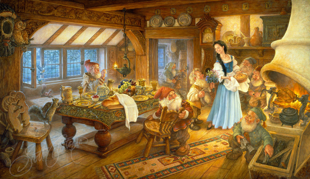 Snow White And The Seven Dwarfs The Art Of Scott Gustafson