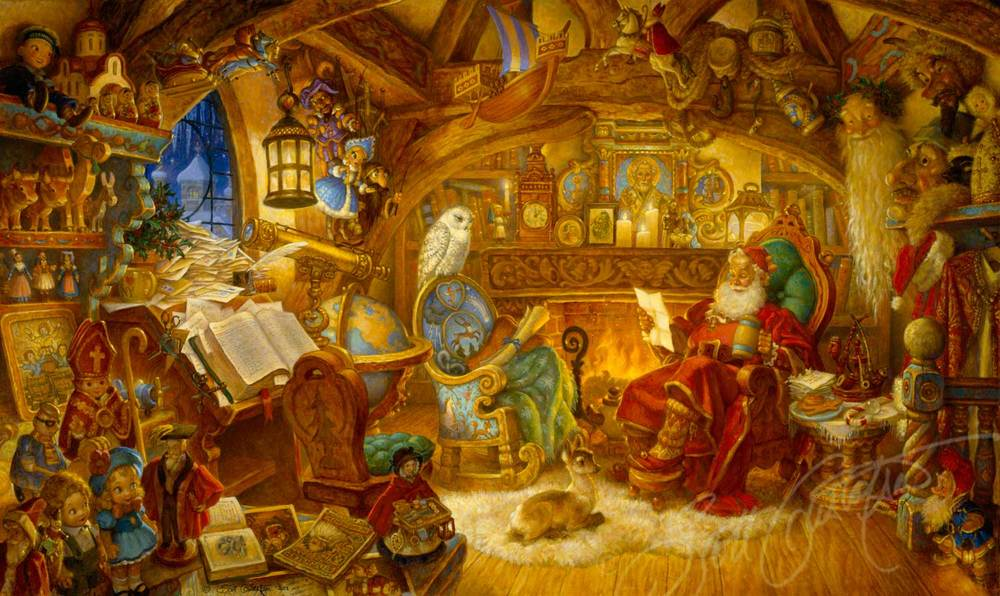 St. Nicholas in his Study