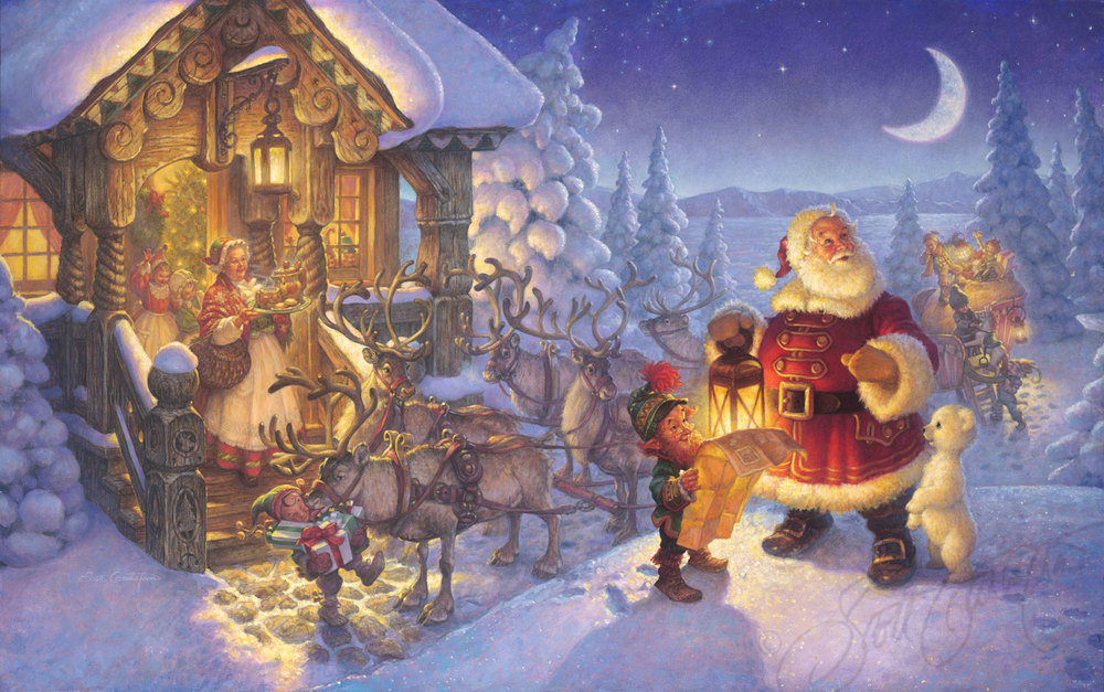 santa at the north pole the art of scott gustafson - Santa And The North Pole