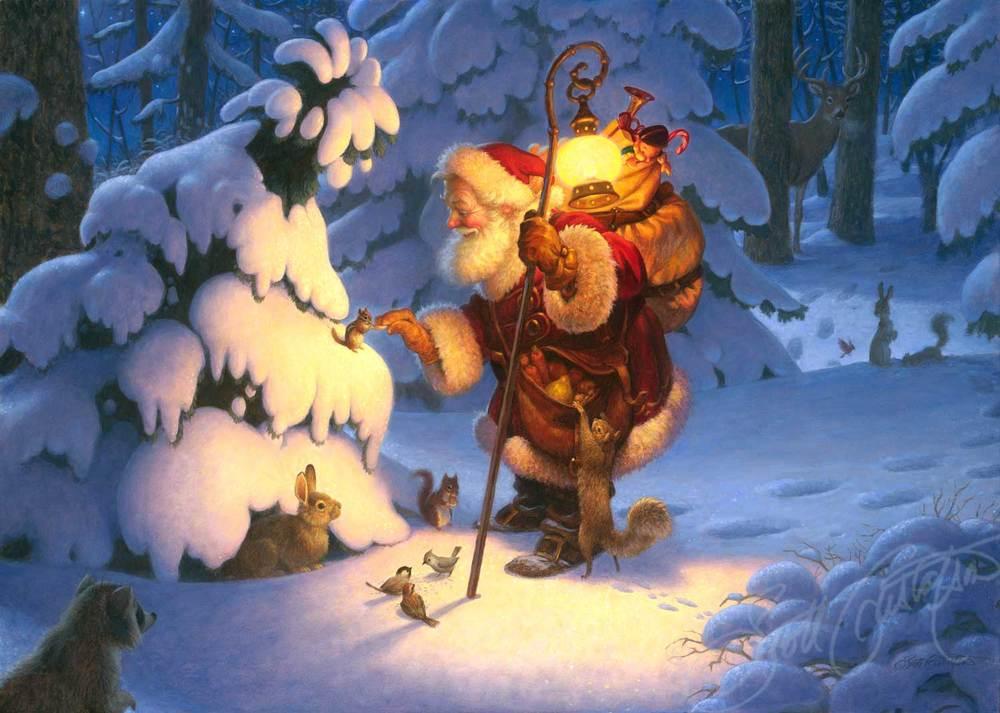 Woodland Santa The Art Of Scott Gustafson