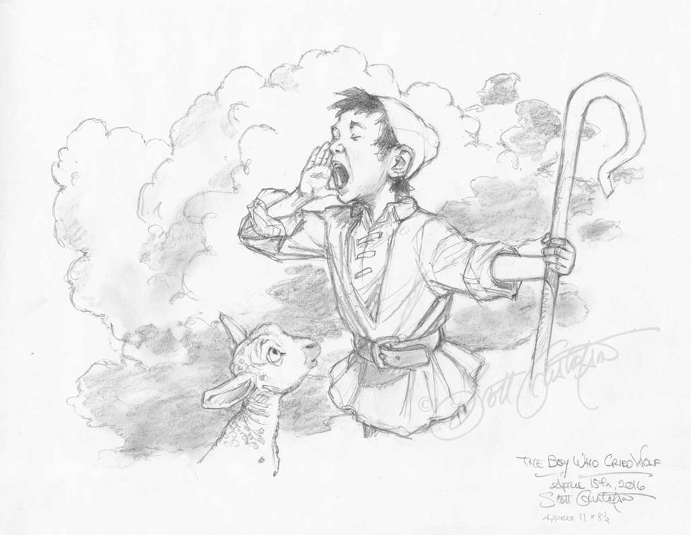 Boy Who Cried Wolf Drawings The Art Of Scott Gustafson
