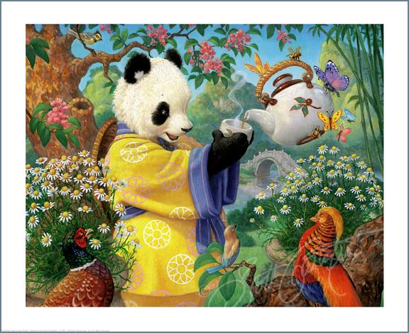 A NEW Studio Print - Celestial Seasonings Panda