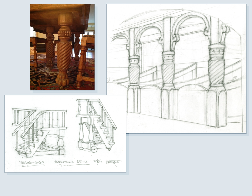 11 - Interior drawings and photo reference