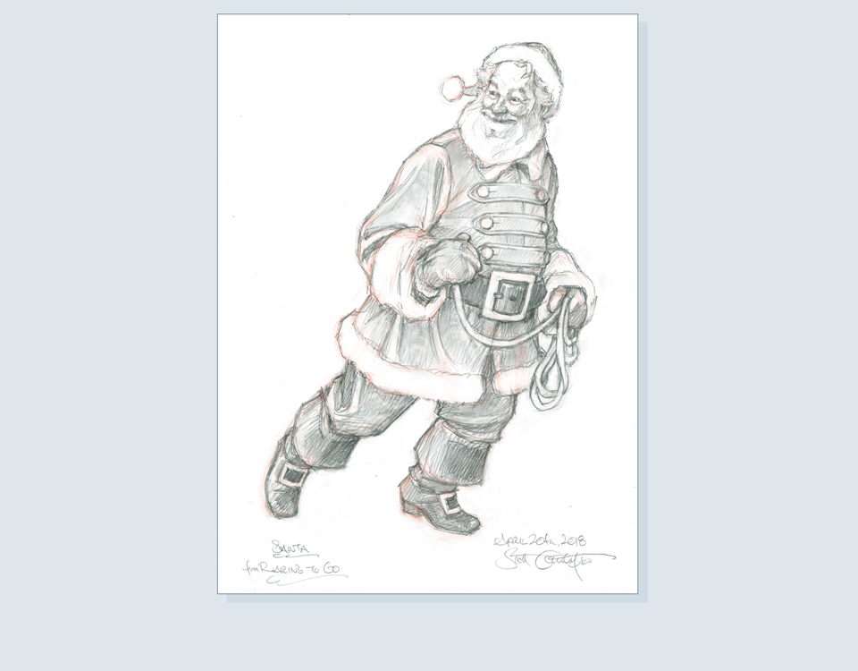 17 - Santa finished drawing